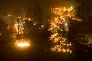 Lichterfest Nankendorf - Beleuchtete Hänge