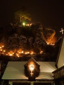 Lichterfest Nankendorf - Kreuz und Rosenkranz