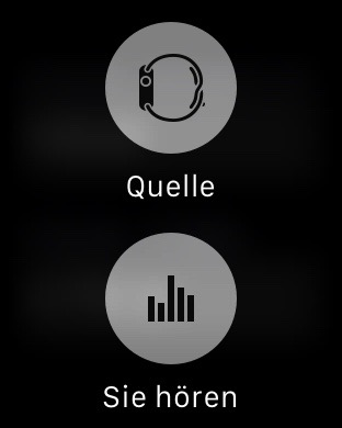 Feste drücken in Musik App
