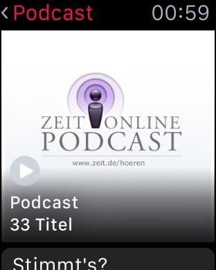 Wiedergabeliste für die Podcasts