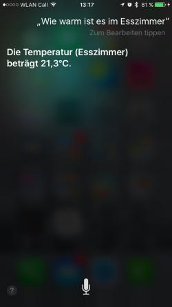 HomeKit und Siri