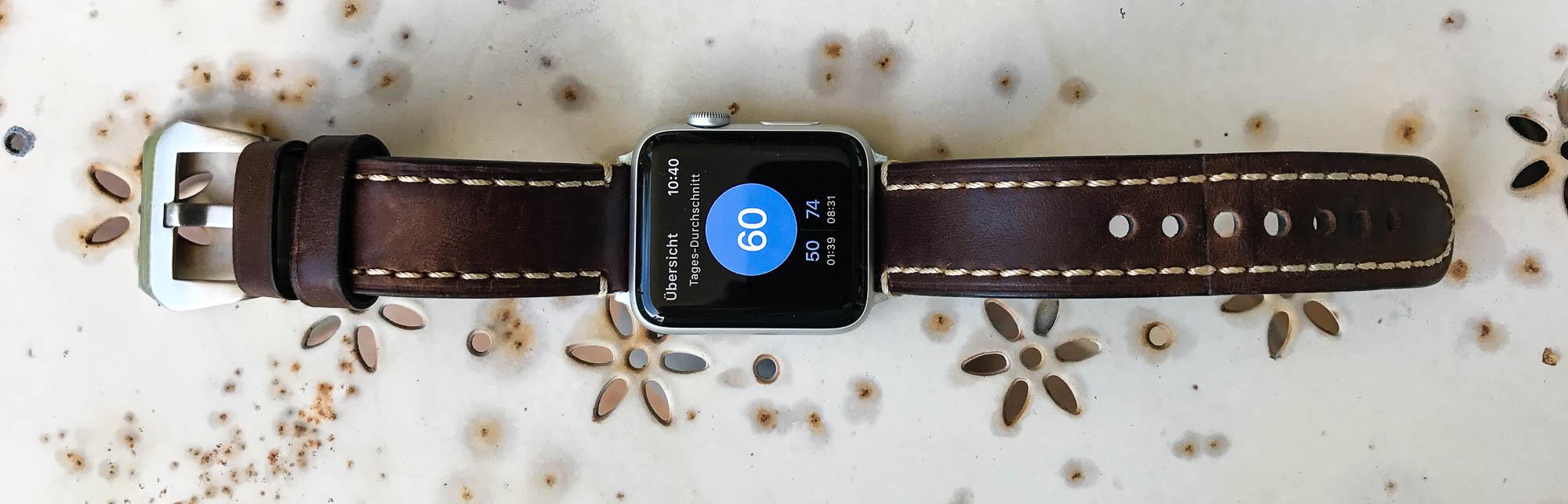 AppleWatch mit HeartWatch App